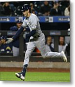 Mike Moustakas And Christian Yelich Metal Print