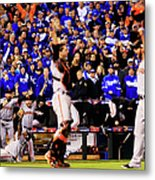 Pablo Sandoval, Madison Bumgarner, And Buster Posey Metal Print