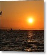 Red sea sunset Metal Print