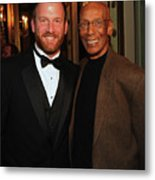 Ryan Dempster And Ernie Banks Metal Print