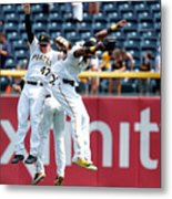 Starling Marte and Gregory Polanco Metal Print