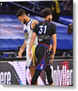 Stephen Curry and Seth Curry Metal Print