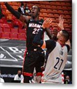 Washington Wizards v Miami Heat Metal Print