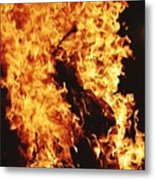 Closeup of Fire at time of festival Metal Print