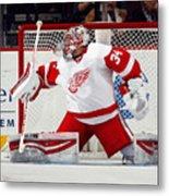 Detroit Red Wings v New Jersey Devils Metal Print