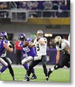 Divisional Round - New Orleans Saints v Minnesota Vikings Metal Print