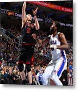 Chicago Bulls v Philadelphia 76ers Metal Print