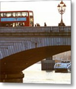 Commuters Use New High-Speed Catamaran Clippers Operated By MBNA Thames Clippers Metal Print