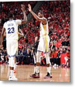 Draymond Green and Kevin Durant Metal Print