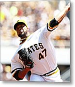 Francisco Liriano Metal Print