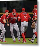 Los Angeles Angels Of Anaheim V Metal Print