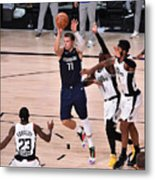 Los Angeles Clippers v Dallas Mavericks - Game Four Metal Print