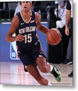 New Orleans Pelicans v Brooklyn Nets Metal Print