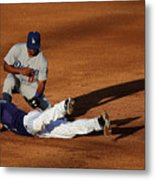 Nick Hundley and Jimmy Rollins Metal Print