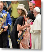 Pope Francis celebrates the Jubilee of the 'World of Travelling Shows' Metal Print