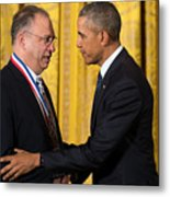 President Obama Awards National Medals Of Science And Nat'l Medals Of Technology And Innovation Metal Print