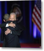 President Obama Delivers Farewell Address In Chicago Metal Print