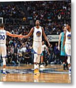 Stephen Curry and Kevin Durant Metal Print