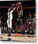 2021 NBA Playoffs - Milwaukee Bucks v Atlanta Hawks Metal Print