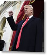 Donald Trump Is Sworn In As 45th President Of The United States Metal Print