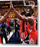 Chris Paul and James Harden Metal Print