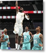 Dallas Mavericks v Charlotte Hornets Metal Print