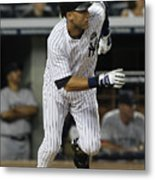 Derek Jeter and Babe Ruth Metal Print