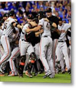 Madison Bumgarner And Buster Posey Metal Print
