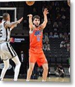 Oklahoma City Thunder vs. San Antonio Spurs Metal Print