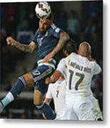 Argentina v Uruguay: Group B - 2015 Copa America Chile Metal Print