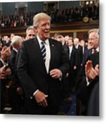 Donald Trump Delivers Address To Joint Session Of Congress Metal Print
