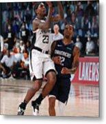 LA Clippers v Dallas Mavericks - Game Four Metal Print