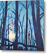 A Chilly Little Number Metal Print