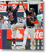 Abraham Almonte and Francisco Lindor Metal Print