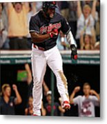 Abraham Almonte and Tyler Naquin Metal Print