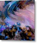Abstract Island Girl Slumbering On The Beach Metal Print