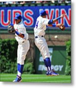 Addison Russell and Starlin Castro Metal Print
