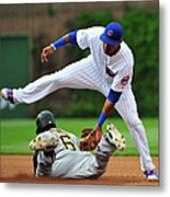 Addison Russell and Starling Marte Metal Print