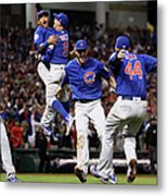 Addison Russell, Kris Bryant, And Javier Baez Metal Print