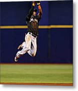 Adeiny Hechavarria and Yunel Escobar Metal Print