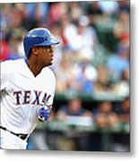 Adrian Beltre and Bruce Chen Metal Print