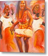 African Mixed Dancer Metal Print