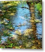 After Monet or Reflections in the Stream Metal Print