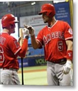 Albert Pujols and Kole Calhoun Metal Print