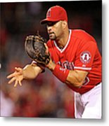 Albert Pujols, Nick Franklin, and Cam Bedrosian Metal Print