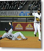 Alexei Ramirez and Rene Rivera Metal Print