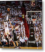 Andrei Kirilenko and Lebron James Metal Print