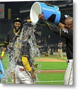 Andrew Mccutchen, Starling Marte, and Gregory Polanco Metal Print