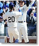 Anthony Rizzo and Justin Ruggiano Metal Print