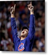 Anthony Rizzo And Miguel Montero Metal Print